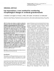 Lip impressions: a new method for monitoring ... - Wiley Online Library