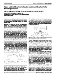 Lipase-catalysed decarboxylative aldol reaction and