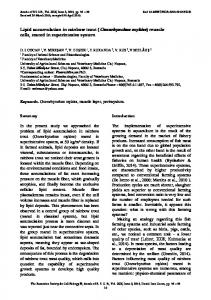 Lipid accumulation in rainbow trout (Oncorhynchus ... - Annals of RSCB