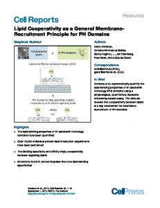 Lipid Cooperativity as a General Membrane-Recruitment ... - Cell Press