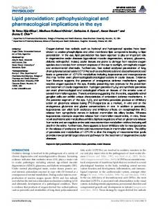 Lipid peroxidation: pathophysiological and ... - Frontiers