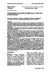 LIPID PROFILE CHANGES IN PREGNANCY INDUCED