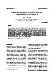 Lipoic acid reduces arsenic from arsenic-loaded isolated liver tissues ...