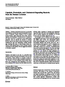 Lipolytic, Proteolytic, and Cholesterol-Degrading ... - Springer Link