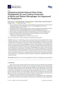 Lipopolysaccharide-Induced Nitric Oxide, Prostaglandin E2, and