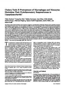 Lipopolysaccharide Their Proinflammatory Responsiveness to ...