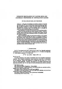 LIPSCHITZ EQUIVALENCE OF CANTOR SETS AND ALGEBRAIC