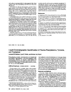 Liquid-Chromatographic Quantification of Plasma ... - Clinical Chemistry