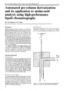 liquid chromatography - BioMedSearch