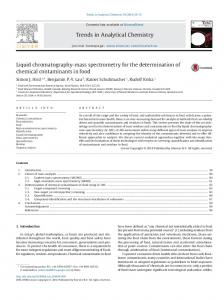 Liquid chromatography-mass spectrometry for the ... - Core