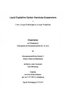 Liquid Crystalline Carbon Nanotube Suspensions ... - Jan Lagerwall