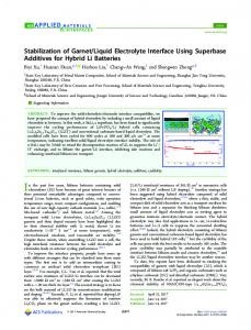 liquid electrolyte interface ... - ACS Publications