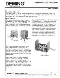 Liquid Level Controls Systems - Crane Pumps & Systems