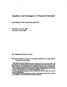 Liquidity and Contagion in Financial Markets - EconWPA