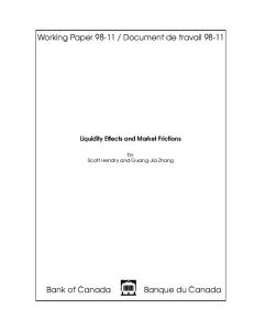 Liquidity Effects and Market Frictions