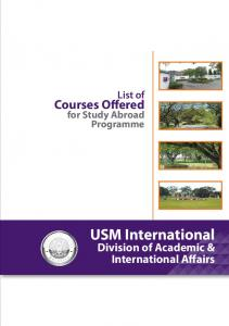 List of Courses Offered for Study Abroad Programme