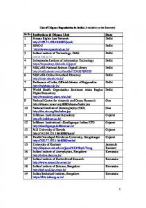 List of DSpace repositories in India with link - DSpace at CUSAT