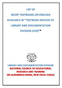 List of NCERT School Textbooks in English