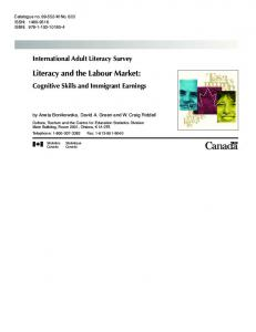 Literacy and the Labour Market: Cognitive Skills and ... - CiteSeerX
