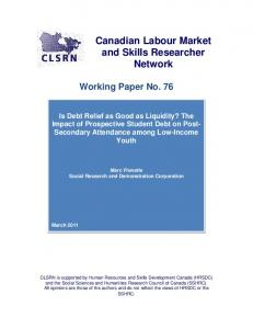 Literature review - Canadian Labour Market and Skills Researcher ...