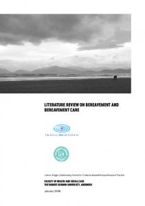 Literature Review on Bereavement and Bereavement Care
