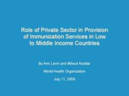 Literature Review on Role of Private Sector in Provision of ...