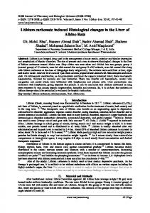 Lithium carbonate induced Histological changes in the ... - IOSR journals