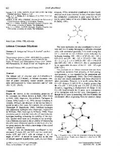 Lithium Croconate Dihydrate - Wiley Online Library