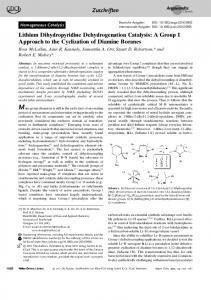 Lithium Dihydropyridine Dehydrogenation ... - Wiley Online Library