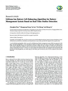 Lithium-Ion Battery Cell-Balancing Algorithm for Battery Management