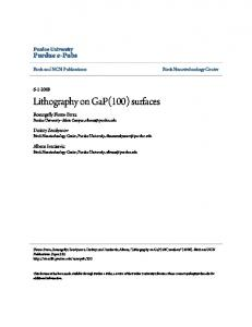 Lithography on GaP(100) surfaces