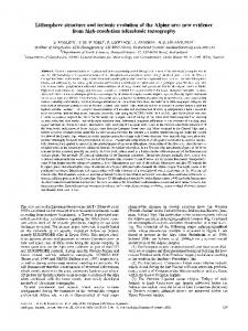 Lithosphere structure and tectonic evolution of the