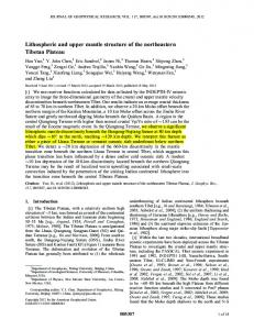 Lithospheric and upper mantle structure of the ... - Wiley Online Library