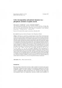 Litter decomposition and nutrient dynamics in a
