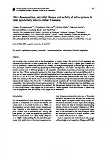 Litter decomposition, microbial biomass and activity of ... - Springer Link