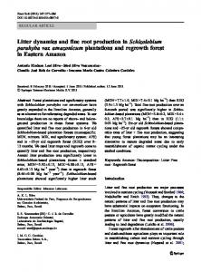 Litter dynamics and fine root production in ... - Springer Link