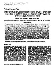 Litter production, decomposition and physico ... - Academic Journals