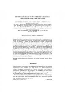 LITTERFALL MERCURY IN TWO FORESTED ... - Springer Link
