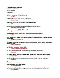 LITTLE PRINCE QUESTIONS ENGLISH I HONORS MRS ...