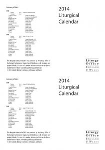 Liturgical Calendar 2014.pdf - Liturgy Office