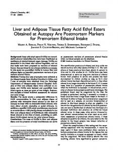 Liver and Adipose Tissue Fatty Acid Ethyl Esters ... - Semantic Scholar