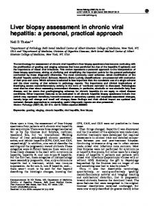 Liver biopsy assessment in chronic viral hepatitis: a ... - Neil Theise, MD