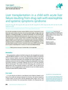 Liver transplantation in a child with acute liver failure resulting from ...