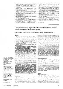 Liver transplantation in patients with alcoholic ... - Semantic Scholar