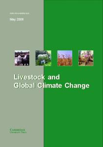Livestock and Global Climate Change Livestock and Global Climate