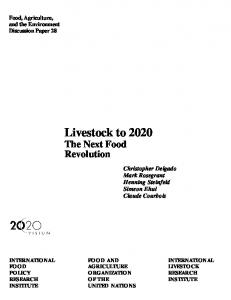 Livestock to 2020: The Next Food Revolution
