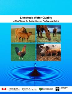 Livestock Water Quality - NDSU Agriculture