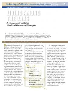 Living among the Oaks: A Management Guide for Woodland Owners ...