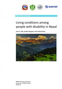 Living conditions among people with disability in Nepal - Atlas-alliansen