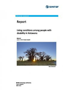 Living conditions among people with disability in